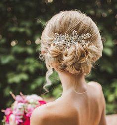 updo wedding hairstyle; via Websalon Wedding For more wedding inspiration check out our wedding blog www.creativeweddingco.com