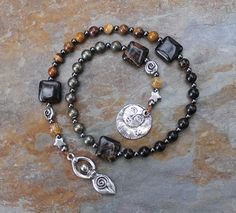 Autumn Moon Pagan Prayer Beads Meditation by IndigoDesertMoon