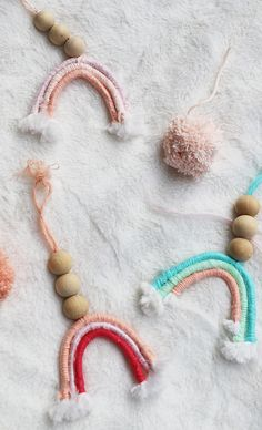 A Bubbly LifeDIY Macrame Rainbow Ornaments - A Bubbly Life