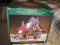 CRYSTAL CREEK WINERY SANTA'S WORKBENCH VICTORIAN SERIES CHRISTMAS VILLAGE