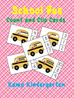 FREEBIE!!!  School Bus Count and Clip Cards (Sets to 10)  #backtoschool  #counting  #numerals  http://www.teacherspayteachers.com/Product/School-Bus-Count-and-Clip-Cards-Sets-to-10-1331469