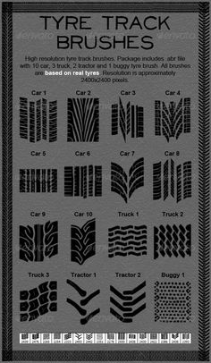 Tire Track Brushes