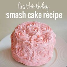 How to make an easy smash cake for a 1st birthday | onelittleproject.com    I just think this sounds like fun. A smash cake! :D