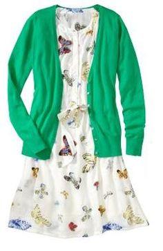 Cardigan and Dress