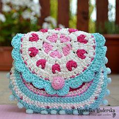 Hearts purse crochet pattern purse DIY by VendulkaM on Etsy