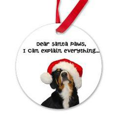 Dear Santa Paws, I can explain everything #ornament