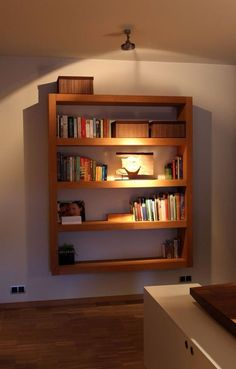 Beautiful Bookcases You Can Make Yourself A simple and modern floating unit from Instructables, with a full tutorial for making your own. (Image credits: Nur Noch; Treasures & Travels; The Makerista; English Muffin; Design Sponge; Instructables)