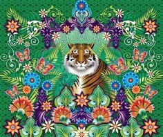 Catalina Estrada wallpaper mural - Tiger