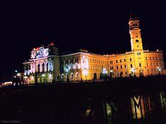 San Francisco Ferry, Louvre, Night, Monuments, City, Building, Dan, Travel, Romania