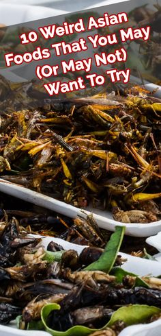 Bizarre foods from Asia that you'll either love or hate. Strange and unusual foods in the far east you won't see on the menu. Odd and Weird Asian Foods!
