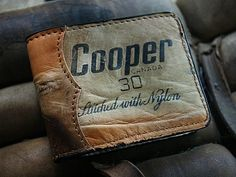 Made From Old Hockey Gloves/Pads-This Is One Awesome Wallet Best Gifts For Men, Cool Gifts, Leather Gloves, Leather Wallet, Hockey Gloves, Youth Hockey, Best Wallet, Edc Gear, Leather Working