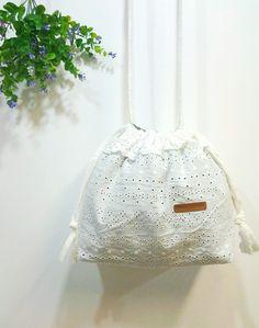 Lace Drawstring Bag