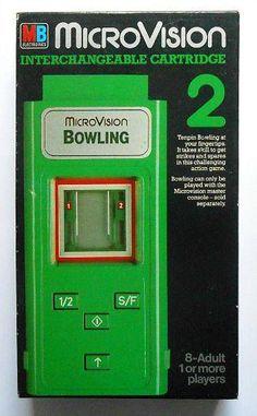 MB MicroVision Bowling game cartridge (1979)
