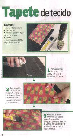 Um PAP da Elo7 foi publicado na Revista Da Hora, mostrando como fazer um tapete de tecido.