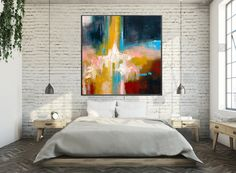 Large canvas painting - contemporary art original painting on canvas large wall art abstract modern decor extra large canvas painting for home decoration Large Canvas, Large Wall Art, Large Art, Canvas Canvas, Your Paintings, Original Paintings, Original Artwork, Abstract Wall Art, Abstract Paintings