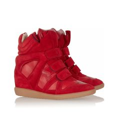 Isabel Marant High-top Sneakers Red Suede