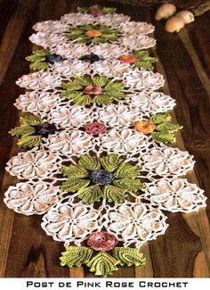 crochet centro de mesa