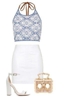"""""""Untitled #3"""" by ivaaaapoool55 ❤ liked on Polyvore featuring Topshop, River Island, Schutz and Dolce&Gabbana"""