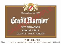 Personalized Grand Marnier Labels  750 ml. Unique by MagicLabels