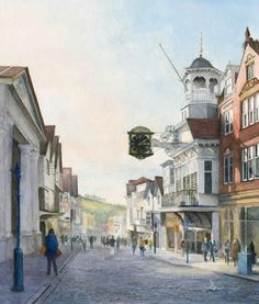 Guildford High Street - Surrey Scenes Art Gallery Painting