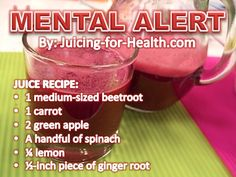 Mental Alert — Juicing For Health