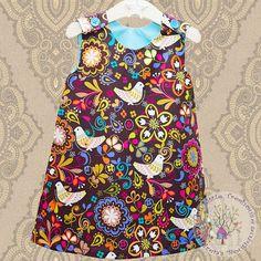 Girls Dress, Kids Clothing , Handmade Clothing, Fashion Dress, Trendy Dress, Kid Fashion - Little Pinafore Dress on Etsy, $41.93