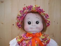"""Soft Sculpture Cloth Doll Tutorial """"LINDA"""" PDF Pattern.  The tutorial PDF with patterns is 34 pages with step by step, includes full size patterns and detailed sewing instructions for the Linda. Wig pattern. Sizing / Finished Measurements: approximately 46 cm high. With Full-Size Patterns Rossella Usai"""