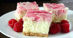 Looking for a rich, creamy, cool lemon cheesecake with a little raspberry swirl flavor? It's a GREAT combination and there's nothing better to start the warmer months than with these delicious and refreshing Lemon Raspberry Cheesecake Bars! It's a top notch mouthwatering cheesecake that will leave you very satisfied. Very satisfied!