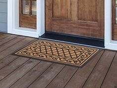 MILLIARD Decorative Country Living Coco Fiber Durable Outdoor Entrance Doormat  18inx30in *** Read more  at the image link.