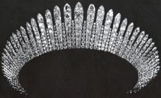 Grand Duchess Maria Alexandrovna of Russia's Fringe Tiara later owned by Queen Marie of Romania and Queen Maria of Yugoslavia Royal Crowns, Royal Tiaras, Tiaras And Crowns, Diamond Tiara, Royal Brides, Royal Jewelry, Crown Jewels, Lady Diana, Jewelery