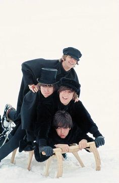 """inthebeatleslife: """"""""The Beatles filming Ticket To Ride, 1965. """" """""""
