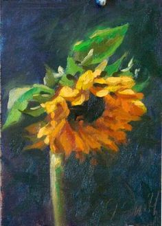 oil painting of sunflowers | oil painting « JeffreySmithArt