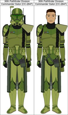 36th Pathfinder Division Commander Gator (CC-2647) by Suddenlyjam