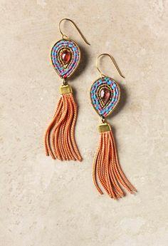Anthropologie De Petra earrings hand made in USA