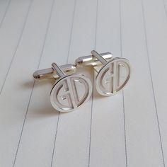Zwei Buchstaben Monogramm Manschettenknöpfe, Hochzeit Manschettenknöpfe, Bräutigam Manschettenknöpfe, personalisierte Manschettenknöpfe, gravierte