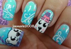Polar Bears-Winter Nail Design (Requested)