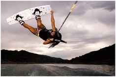 wakeboarding!