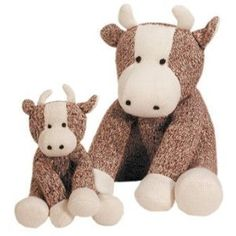 Sock Cow - Oh my goodness!! Yes! I was never big into the sock monkeys, but look at these cows!! Adorable. Must have! :)