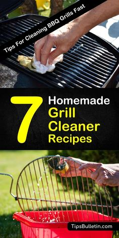 Homemade Grill Cleaner Recipes: 7 Tips for Cleaning BBQ Grills Fast Learn how to create a homemade grill cleaner for stainless steel and gas grills. Use ingredients like baking soda and tools like a wire brush to get your grill grates looking brand new. Clean Stainless Steel Grill, Clean Grill Grates, Bbq Grates, Stainless Steel Cleaner, Homemade Grill, Diy Grill, Bbq Grill Cleaner, Baking Soda Drain Cleaner, How To Clean Bbq