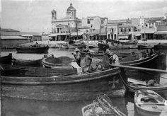 Pierre Machard, Ιούνιος 1917, Πειραιάς, μαούνες στην προκυμαία.