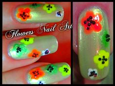 Colors Flower Nails I Nails with Flowers I Easy Summer Nail Art Designs ...