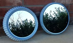 Vintage Upcycled Pie Tins - Repurposed Mirrors - Tiffany Blue Wedding Decor - Cupcake Display - French Country Farmhouse - Cottage CHIC by CountryfiedChic, $89.95