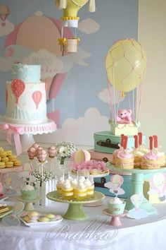 Up Up and Away Baby shower theme Baby Shower Ideas Hot Air Balloon Baby Shower Fun baby shower idea Fiesta Baby Shower, Baby Shower Fun, Baby Shower Themes, Fun Baby, Shower Ideas, Baby Boy, Summer Baby, First Birthday Themes, Baby Girl 1st Birthday