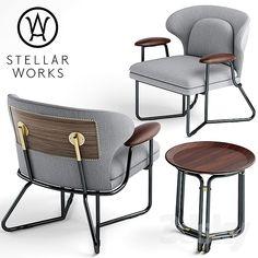 Latest Chairs For Living Room Sofa Design, Lounge Chair Design, Furniture Design, Furniture Upholstery, Cheap Furniture, Luxury Furniture, Furniture Ideas, Metal Sofa, Stellar Works