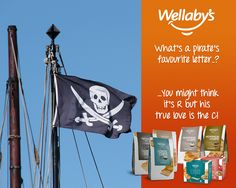 What's a pirate's favourite letter..?   ...You might think it's R but his true love is the C!