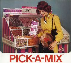 Brach's candy stand...my mother was never this happy when we were grocery shopping.
