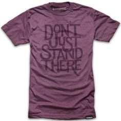 DONT JUST STAND THERE (PLUM) - http://shop.ugmonk.com/