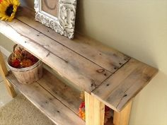DIY Pallet Console Hall Table | Pallet Furniture DIY