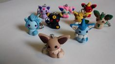 Pokemon Evee Evolutions!! Key chains! You gotta catch 'em all! :)