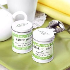 Mini Personalized Tea Tins - could be a diy party favor